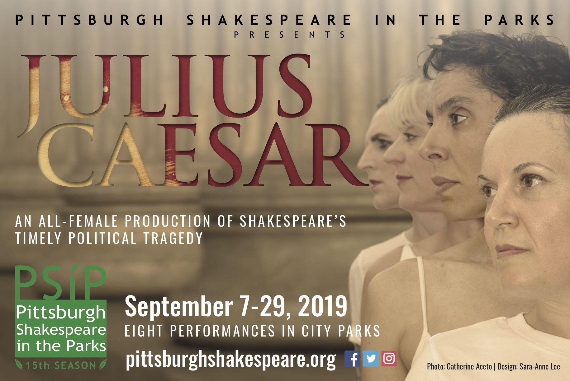 Pittsburgh Shakespeare in the Parks All-Female Julius Caesar